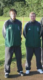 Trainer Holger Zander und Co-Trainer Andreas Zimmermann